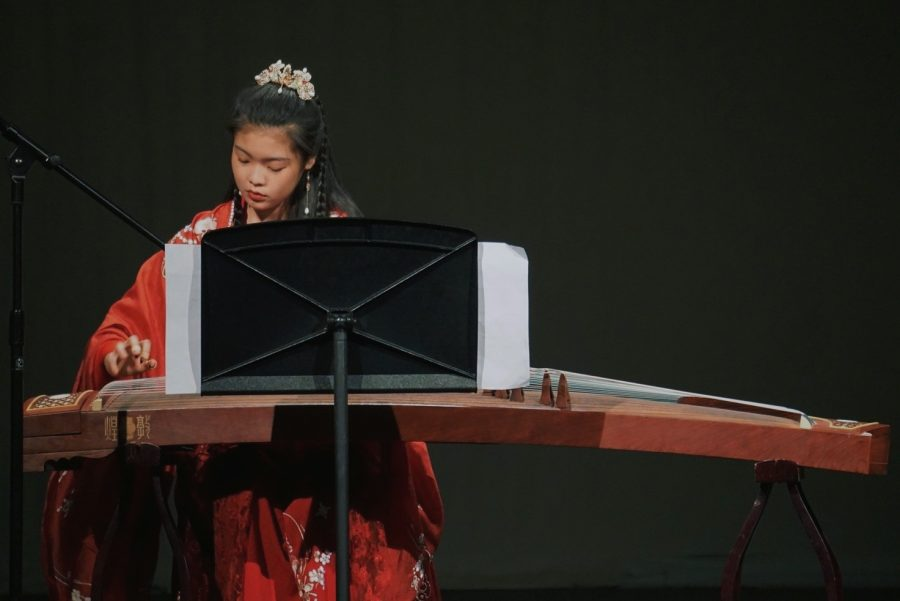 Spring Ma plays the guzheng during Taste of the Season.